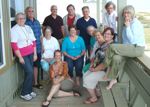 The poetry gang at the Poetry as Prayer Retreat at Surfside, Texas October 2010
