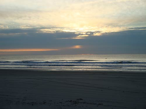 Sunrise at Surfside, Texas